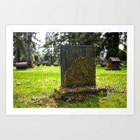Cemetery Beauty Art Print