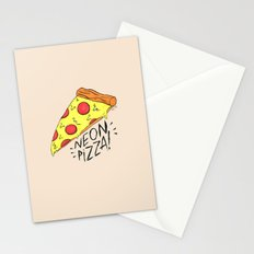 NEON PIZZA Stationery Cards