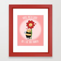 VALENTINE - Pretty Short Framed Art Print