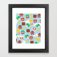 Super Mario Framed Art Print