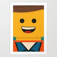 LEGO - Emmet  Art Print
