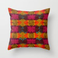Throw Pillow featuring Fall Pattern by Marianna Tankelevich