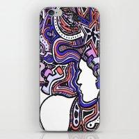 Salmon Techno iPhone & iPod Skin