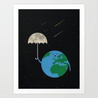 Moonbrella Art Print
