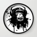 Monkey Business - White Wall Clock