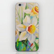 White Daffodils iPhone & iPod Skin