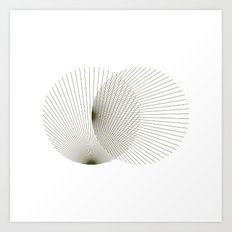 #392 Binocular interference – Geometry Daily Art Print