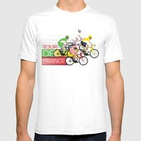 Tour De France Mens Fitted Tee White SMALL