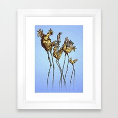 Dali Chocobos Framed Art Print