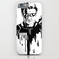 iPhone & iPod Case featuring Avengers in Ink: Hawkeye by Rebecca Loomis