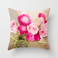 Bunches of Pink Throw Pillow