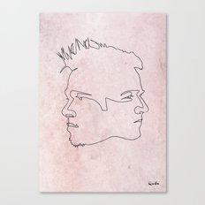 One line Fight Club Canvas Print