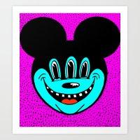 MICKEYES. (Red Tongue). Art Print