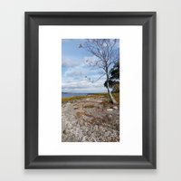 SLIVER SANDS BEACH Framed Art Print