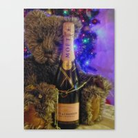 Happy new year Brendan Bear Canvas Print