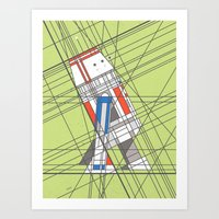 R5D4 Deco Droid Art Print