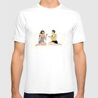 Girl Talk Mens Fitted Tee White SMALL