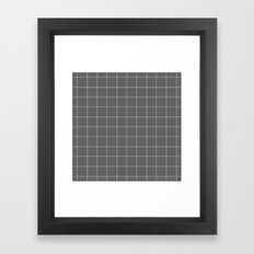 Grey and White Grid Framed Art Print