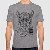 death is a junkie Mens Fitted Tee Tri-Grey SMALL