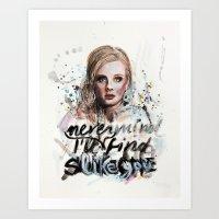 Adele - Nevermind/I'll N… Art Print