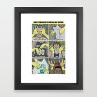 Guide to NBA Celebratory Hand Gestures  Framed Art Print