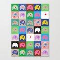 Elephant Love Collage Canvas Print