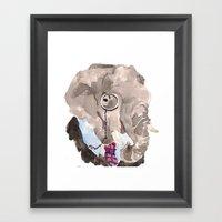 Harumph Elephant Framed Art Print