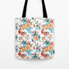 Seamless Floral Pattern Tote Bag