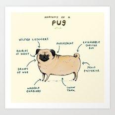 Anatomy of a Pug Art Print