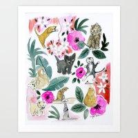 Say Meow! Art Print