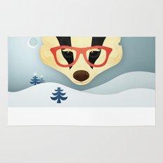 Winter Badger Rug