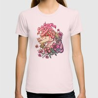 Unigorn Womens Fitted Tee Light Pink SMALL