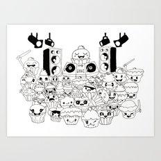 jack n cake Art Print