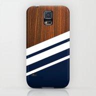 Wooden Navy Galaxy S5 Slim Case