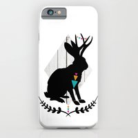 iPhone & iPod Case featuring Aztec King of the Jackalope by Teacuppiranha