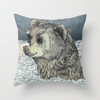 Bear Rock Throw Pillow