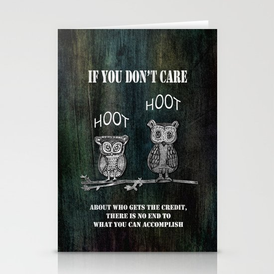 Two Hoots Stationery Card