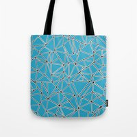 Shattered Ab Blue Tote Bag