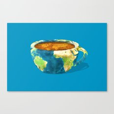 Coffee World Canvas Print