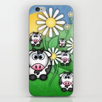 Cows & Daisies  iPhone & iPod Skin