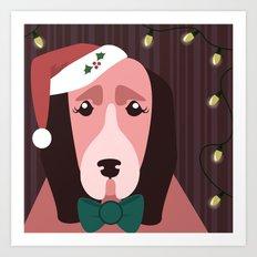 Christmas Dog Art Print