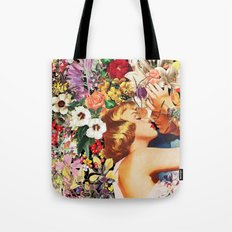 Floral Bed Tote Bag