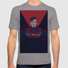Superman Mens Fitted Tee Athletic Grey SMALL