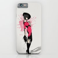 iPhone & iPod Case featuring Pink Dress - Fashion Illustration by Allison Reich