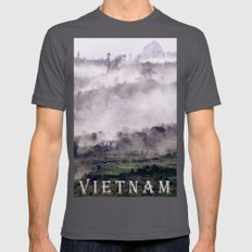 FOGGY MOUNTAIN - VIETNAM - ASIA Mens Fitted Tee Asphalt SMALL