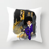 The Purple Kid Throw Pillow