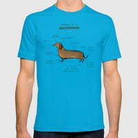 Anatomy of a Dachshund Mens Fitted Tee Teal SMALL