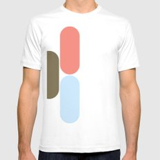Laying down Mens Fitted Tee SMALL White