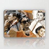 Audrey Hepburn - Ripped Paper Style - Laptop & iPad Skin
