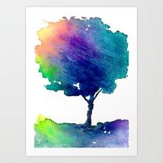 Hue Tree Art Print